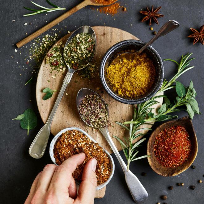 Salt, pipar og krydd